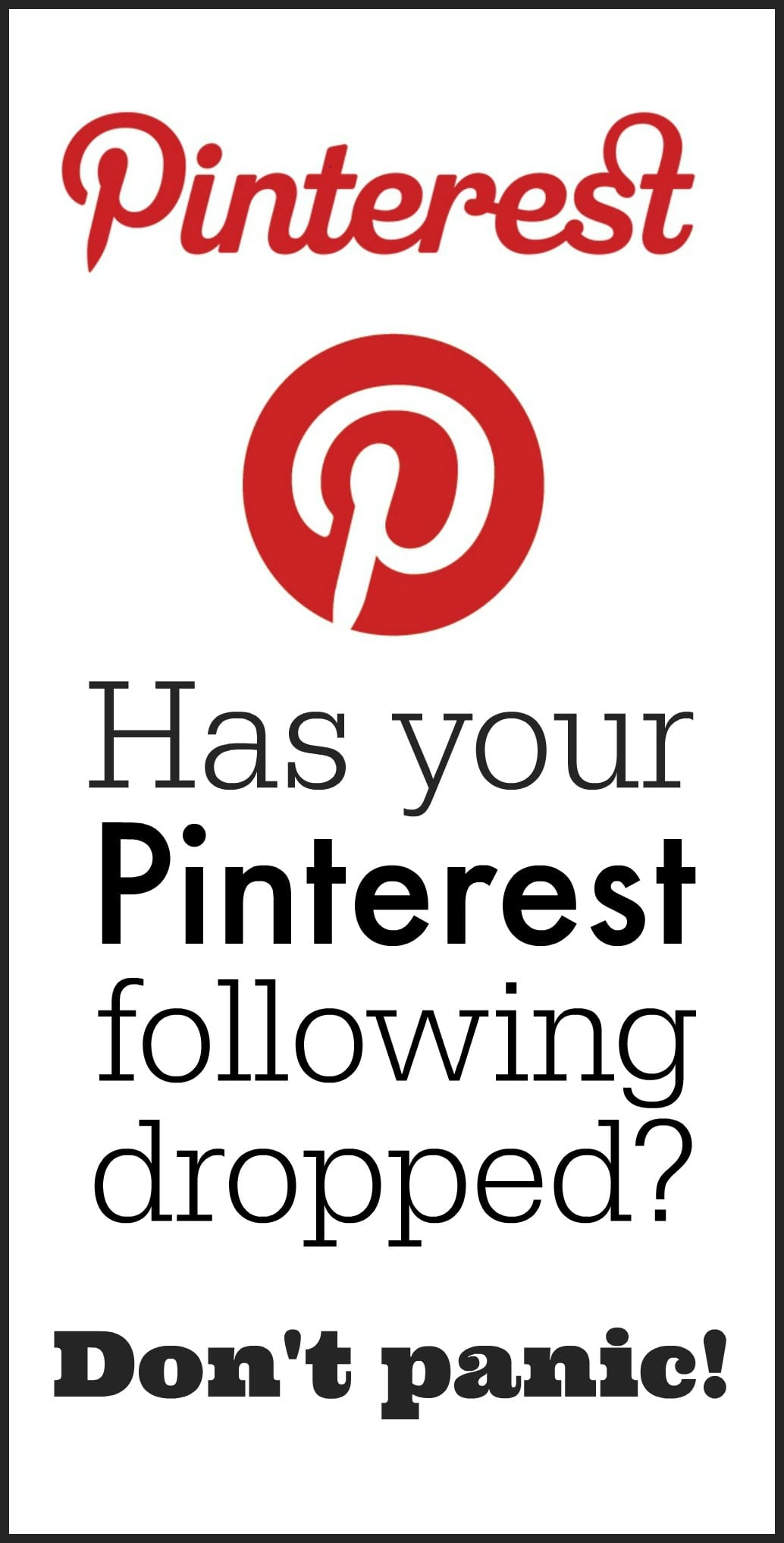 Has your Pinterest following dropped? You're not alone. Don't panic. Read more at MiloTree.com.