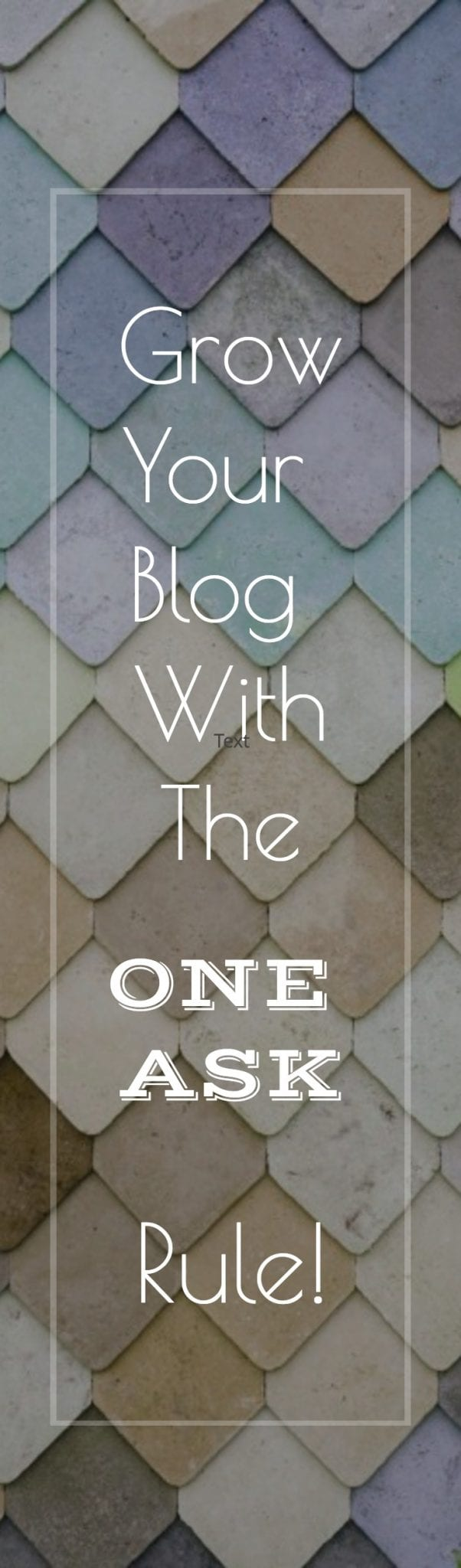 """Grow Your Blog With the """"One Ask"""" Rule! 