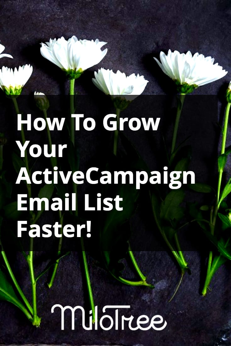 Grow Your ActiveCampaign Email List with the MiloTree Pop-Up | MiloTree.com