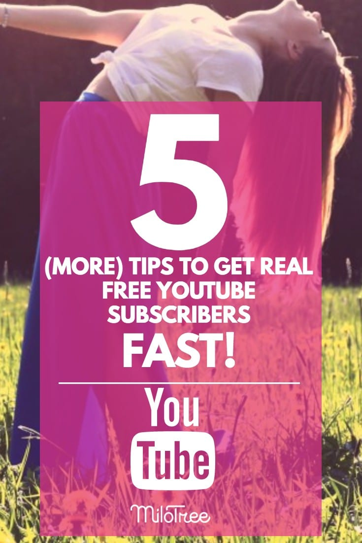 Get Real Free YouTube Subscribers Fast! | MiloTree.com