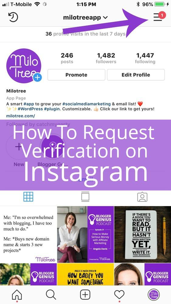 How to Request Verification on Instagram | MiloTree.com