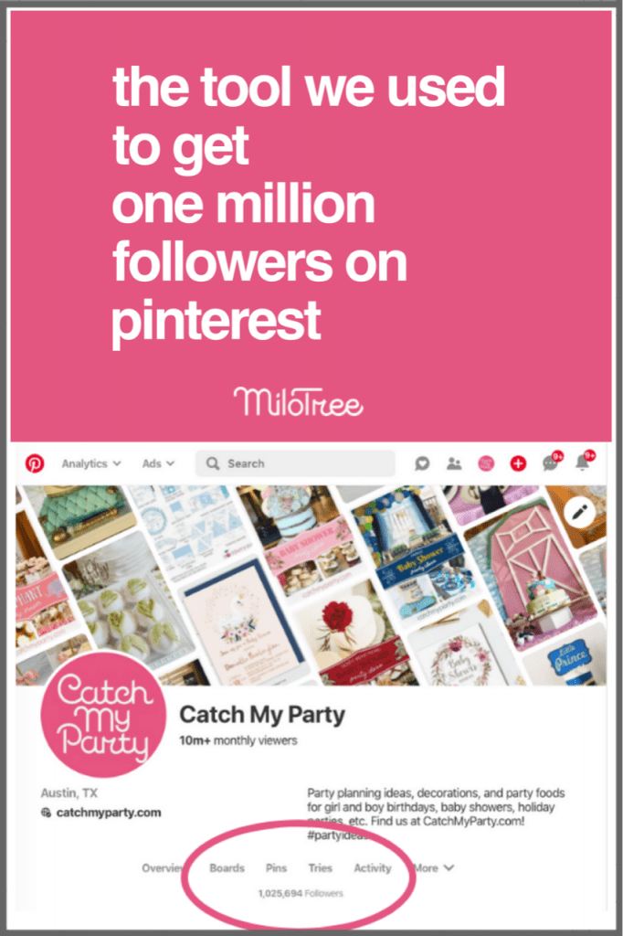What is the Tool We Used to Get 1 Million Followers on Pinterest? | MiloTree.com