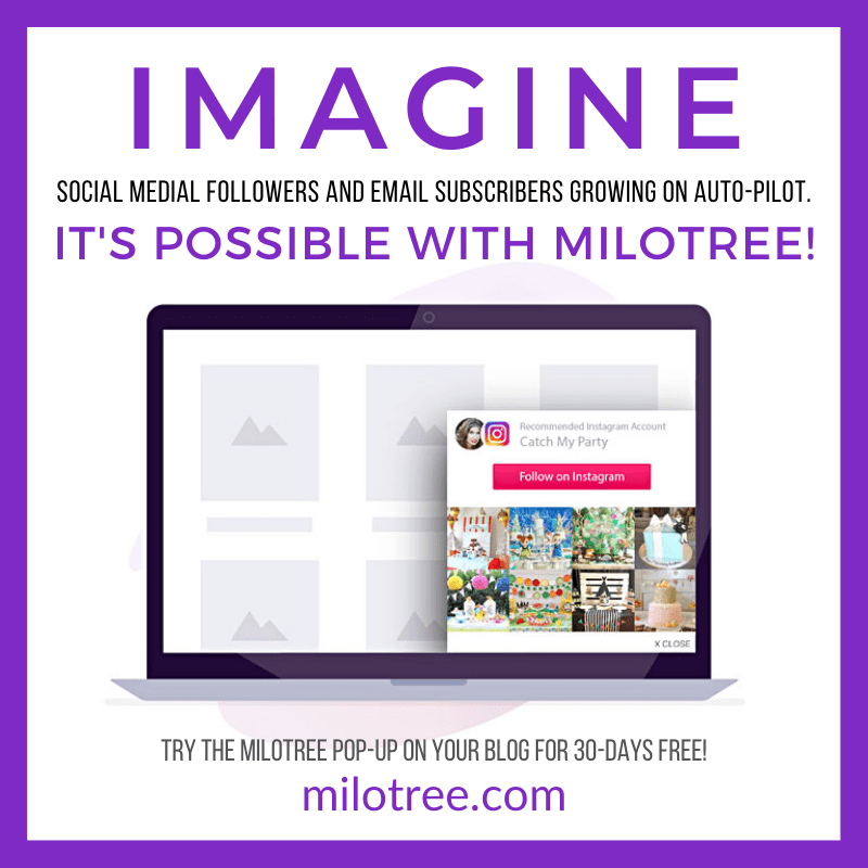 MiloTree Pop-ups to Grow Social Media Followers