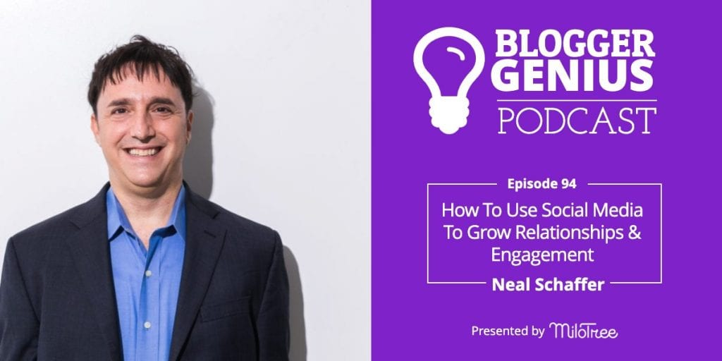 How to Use Social Media to Grow Relationships and Engagement | Blogger Genius Podcast