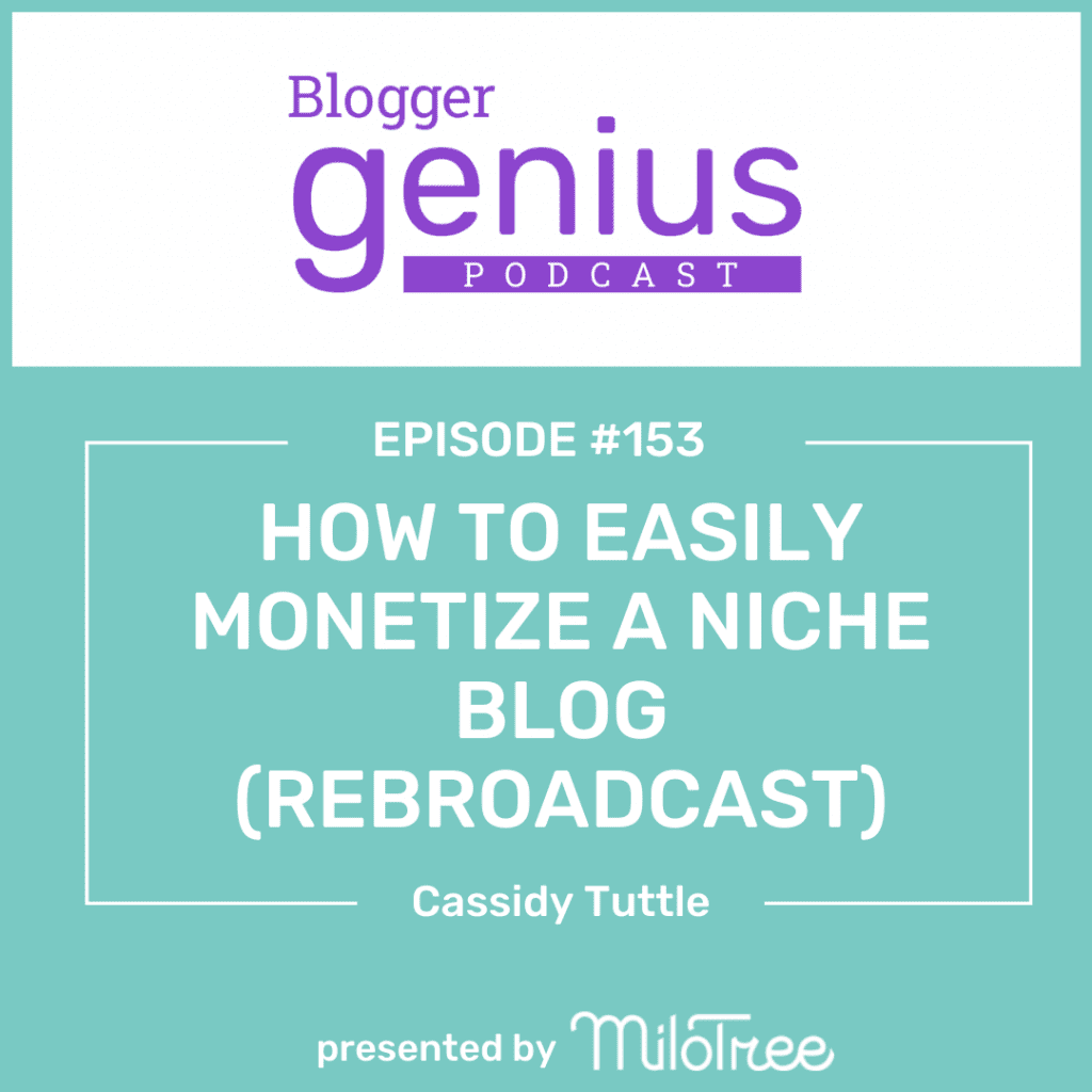 Looking to monetize a niche blog easily? Click the link my profile to hear this episode of the Blogger Genius Podcast with Jillian Leslie where we explore how that's possible.