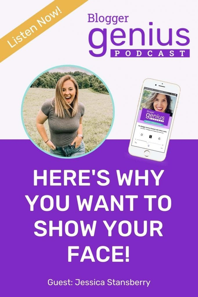 Listen to this episode of The Blogger Genius Podcast with Jillian Leslie to see why video and showing your face are so important now to grow your blog and online business! | MiloTree.com