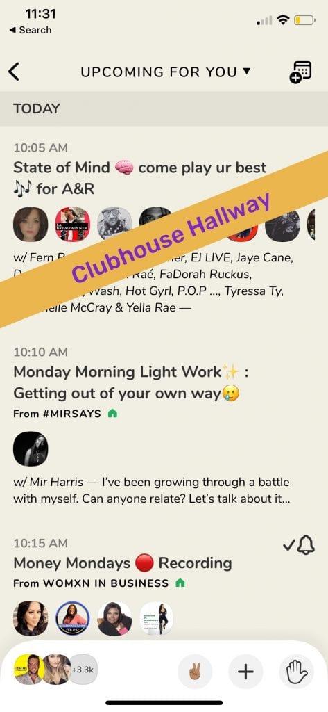 Clubhouse Hallway Example | MiloTree.com