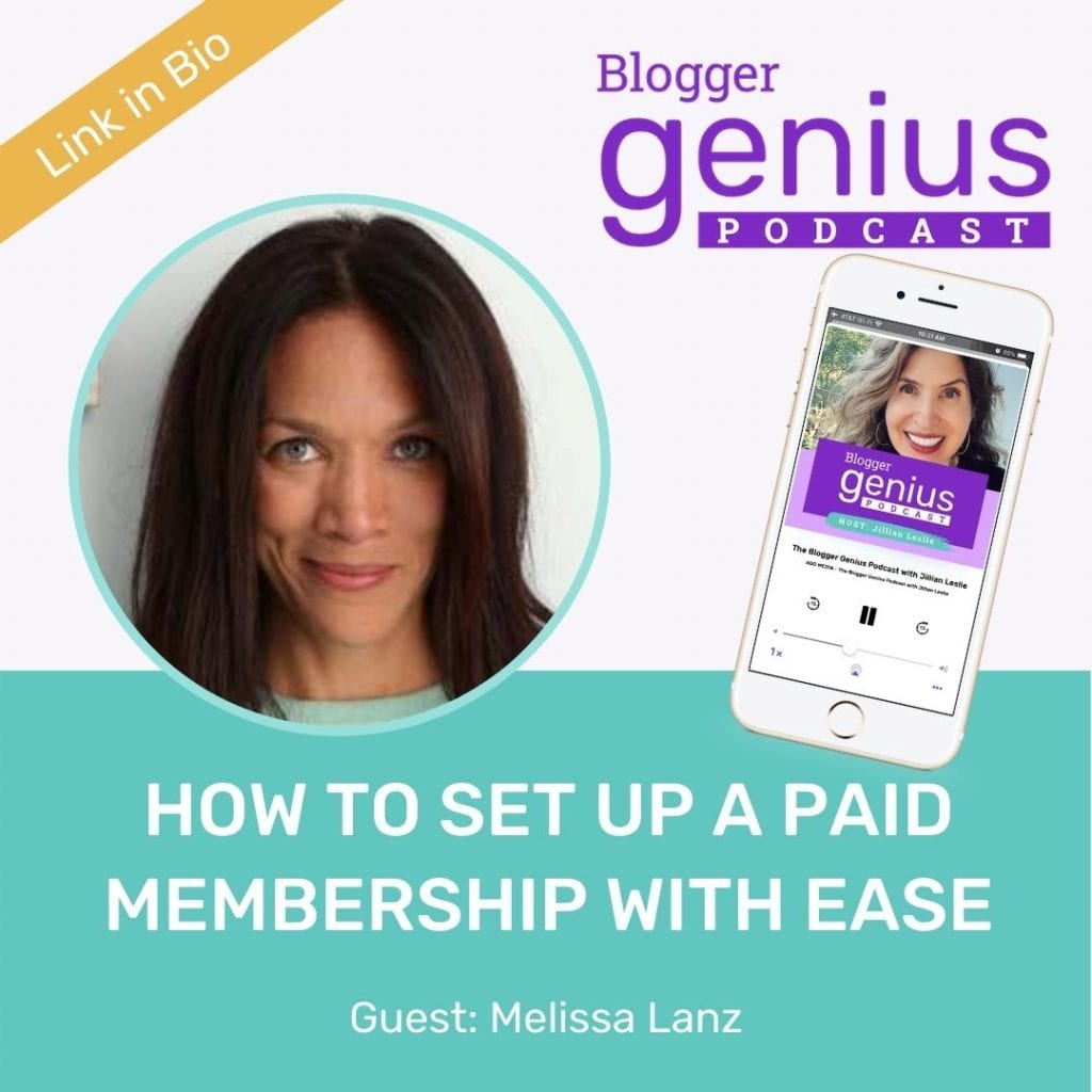 If you are wondering how to set up a membership program with ease, listen to this episode of The Blogger Genius Podcast with Jillian Leslie. You will see it's much easier than you think! Click the link in bio to listen.