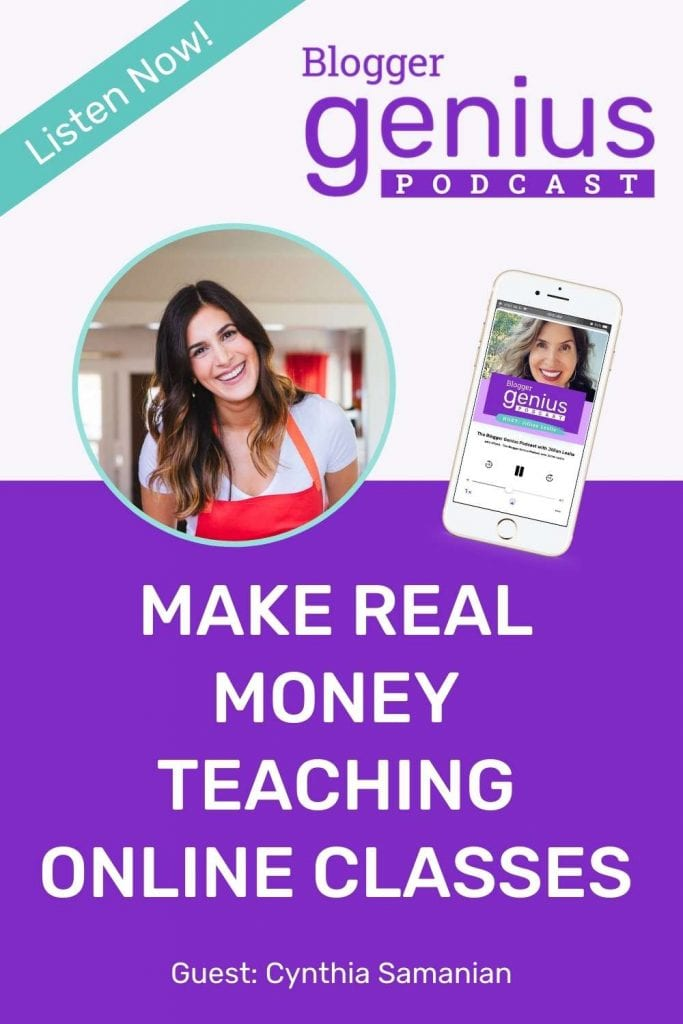 Make Real Money Teaching Online Classes | The Blogger Genius Podcast
