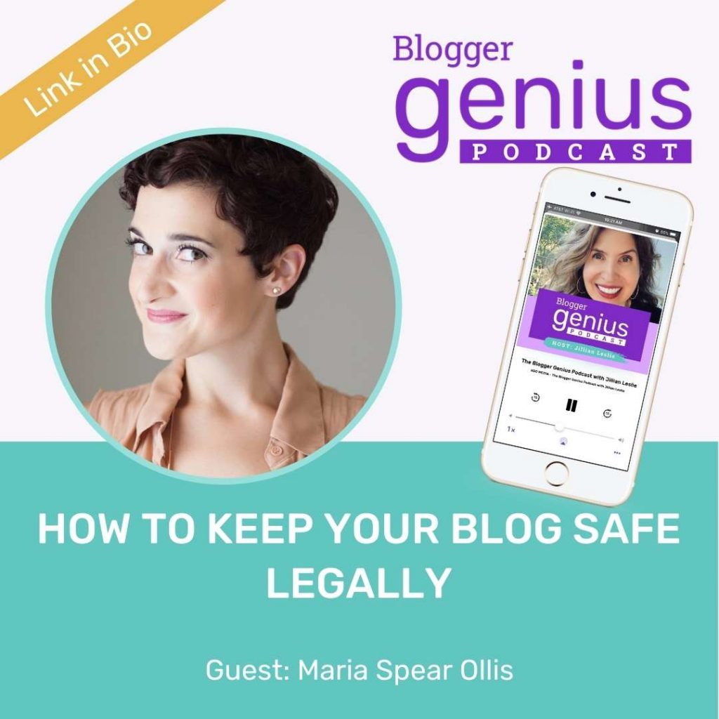 How To Keep Your Blog Safe Legally   The Blogger Genius Podcast with Jillian Leslie