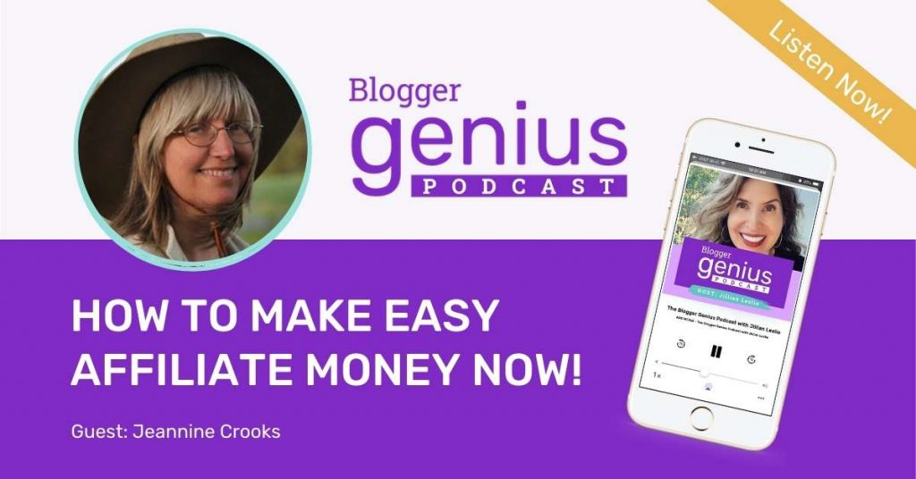 Find out how to make easy affiliate money now before the holidays in the new episode of The Blogger Genius Podcast with Jillian Leslie.