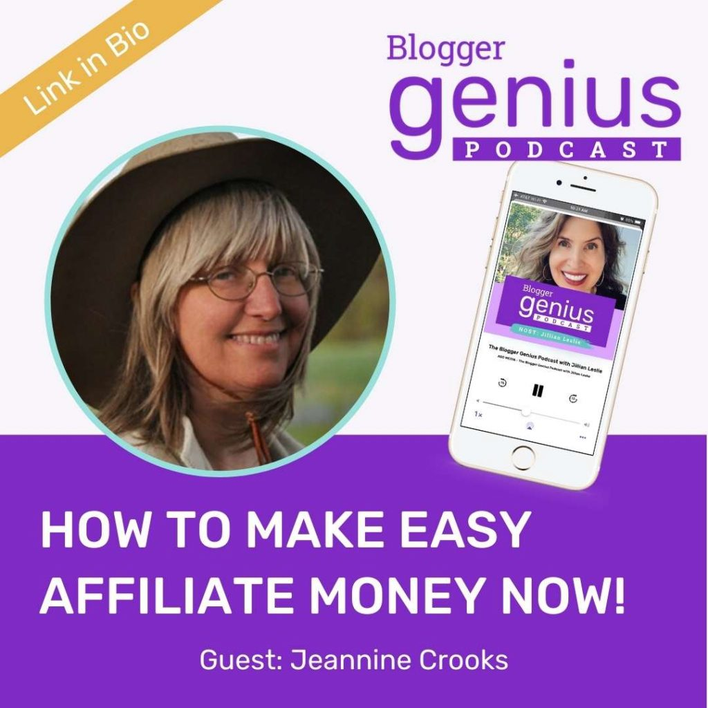 Listen now to find out how to make easy affiliate money now before the holidays in the new episode of The Blogger Genius Podcast with Jillian Leslie.